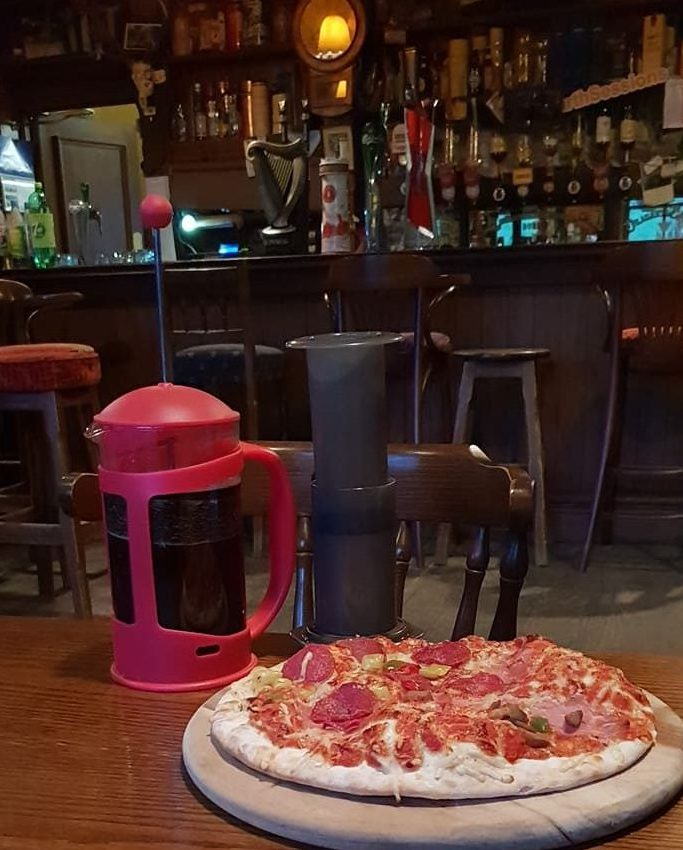 Coffee and Pizza at Egans Bar Parkbridge - Shillelagh - south Wicklow