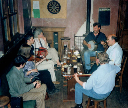 A session in Egans Circa 2003 with Seán and Mary O'Driscoll, Dennis Brooks, Patrick and Larry Egan, Terry and Sharon Corcoran.