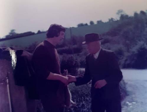 "Johnny Doyle and Matt Tyrrell ""panching"" a rabbit!"